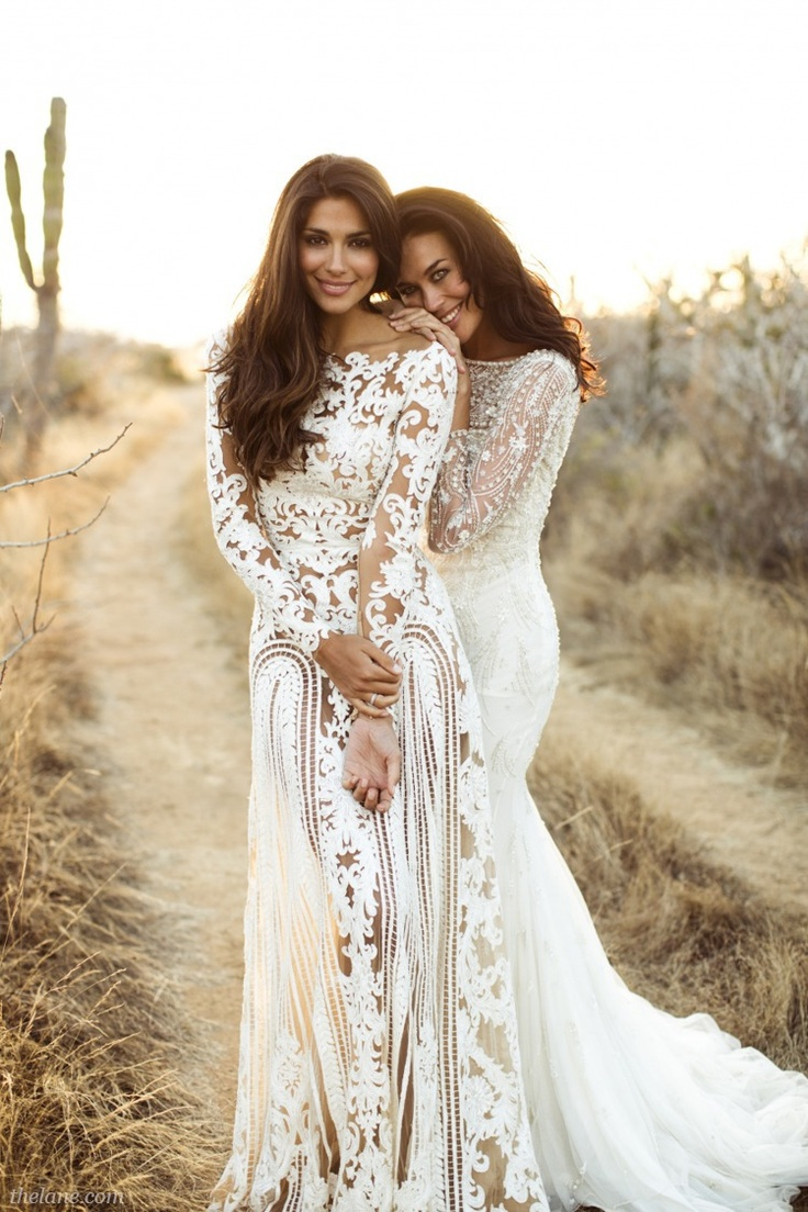 Long sleeve wedding dresses dressed up girl for Lace beach wedding dresses