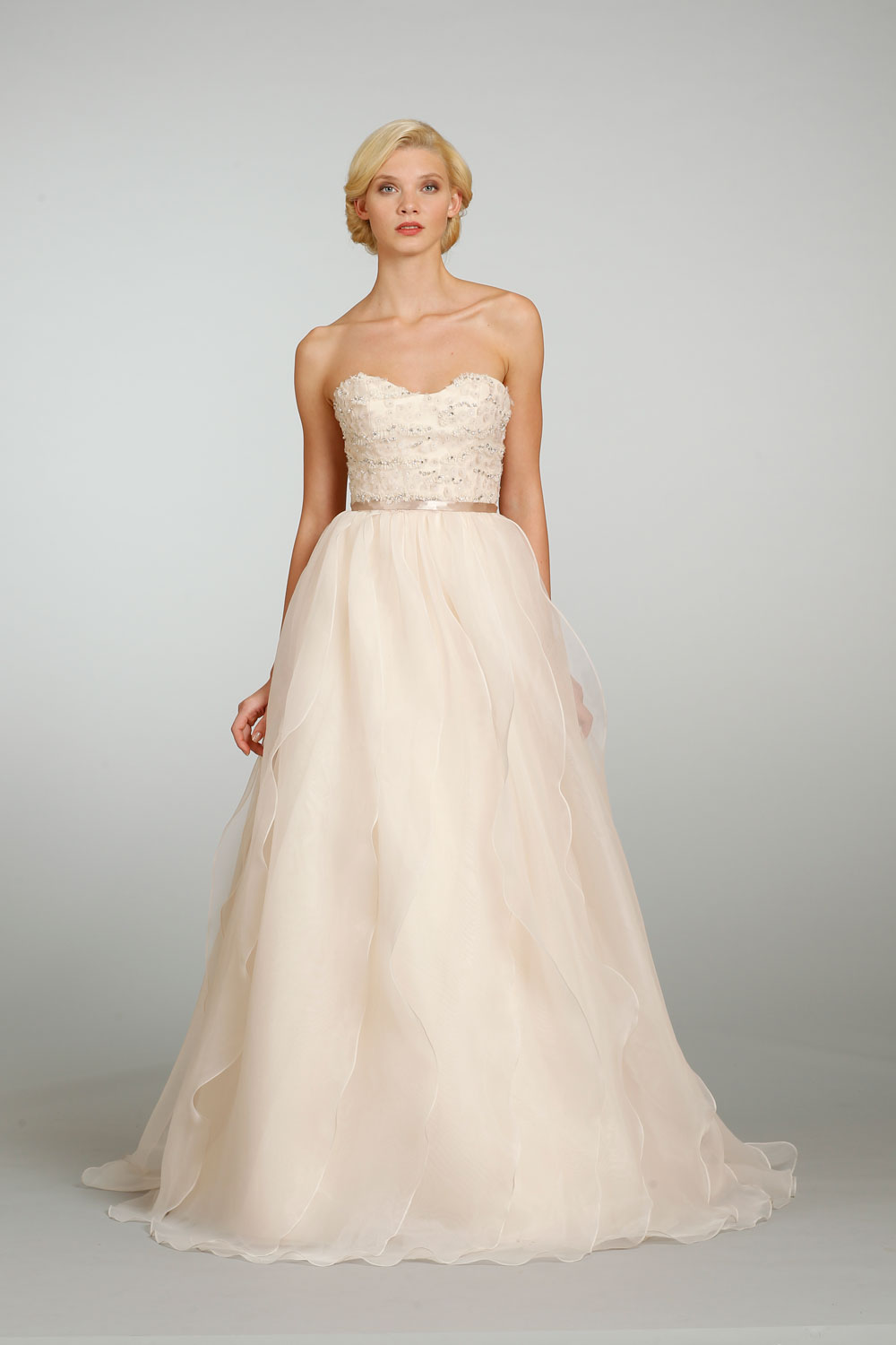 Blush Colored Wedding Gowns 001 - Blush Colored Wedding Gowns