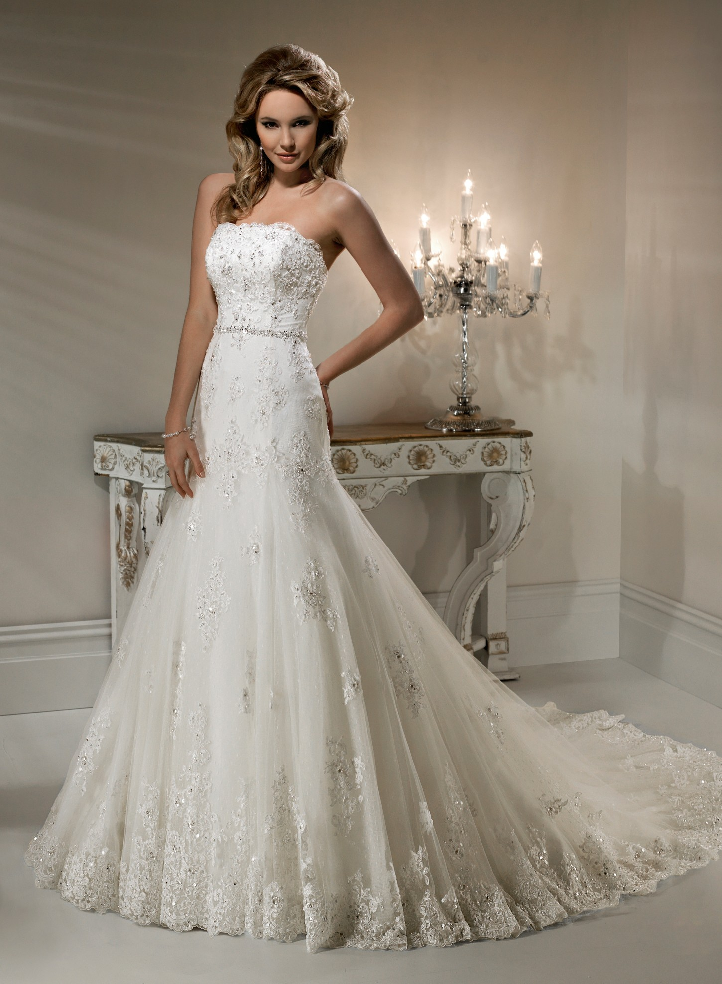 Lace wedding dress dressed up girl for Wedding dresses in uk