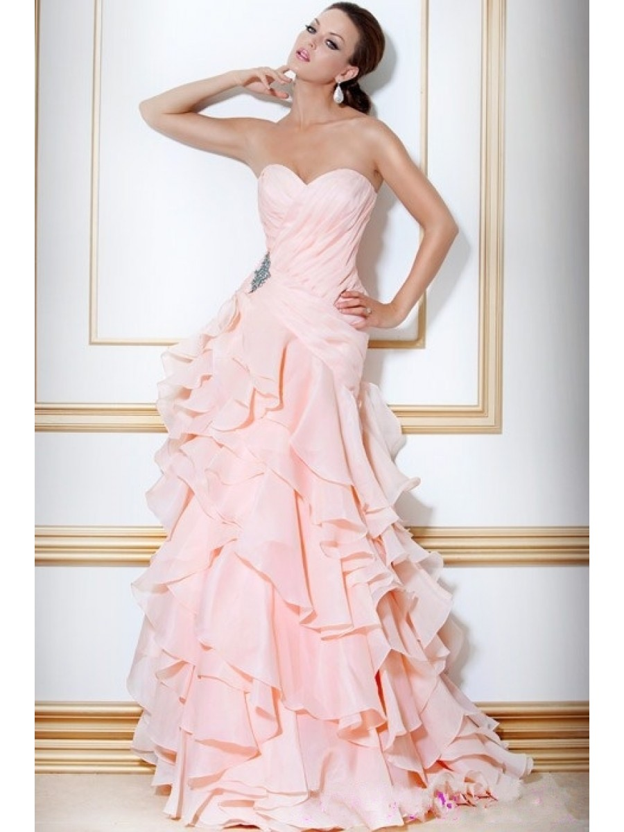 Simple pink wedding gowns wedding ideas for Wedding girl dress up