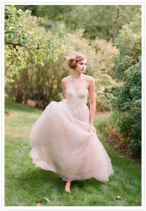 Wedding Dresses in Blush