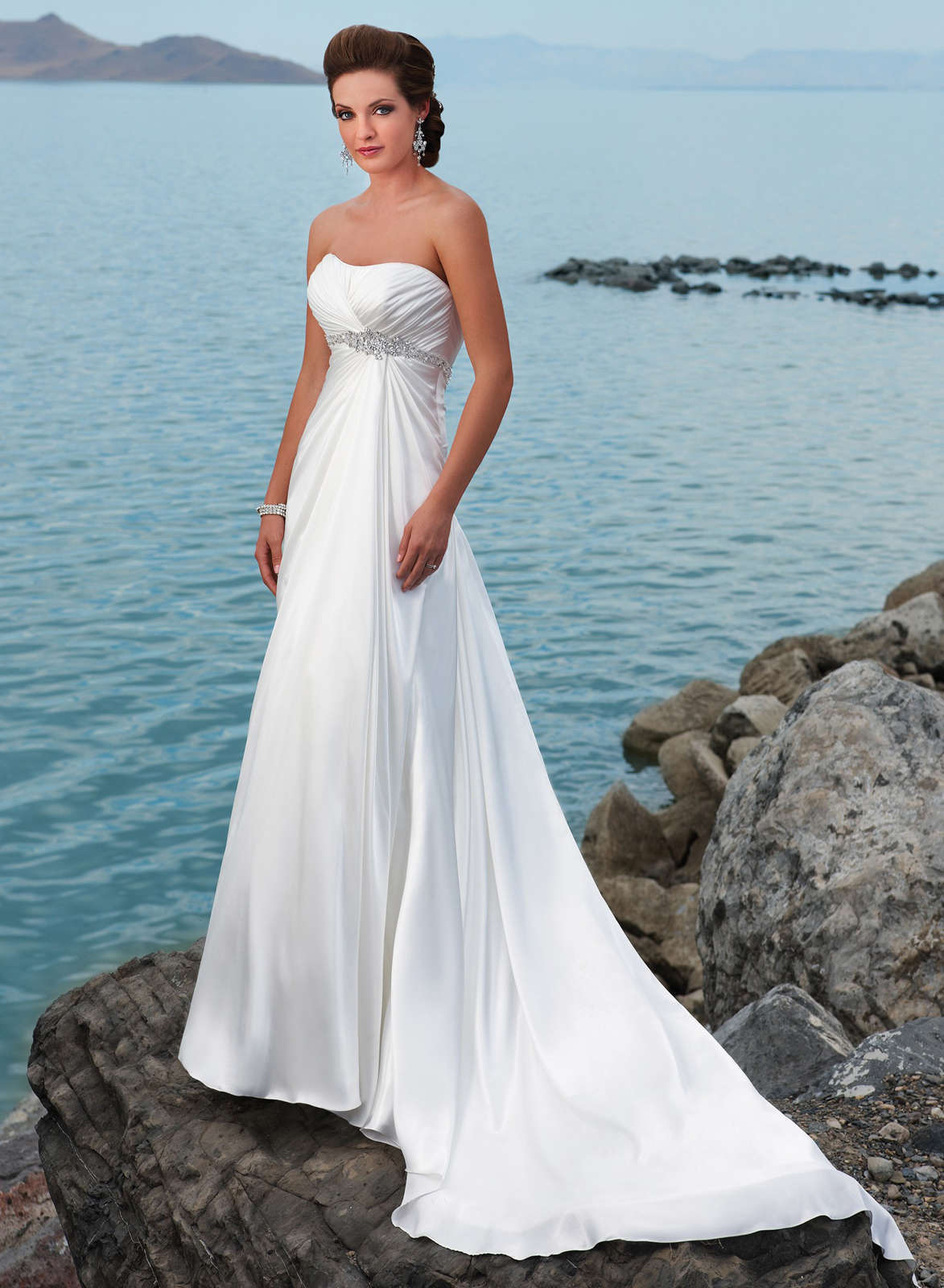 White Beach Wedding Dresses - white dresses for a beach wedding