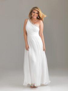White Plus Size Prom Dresses