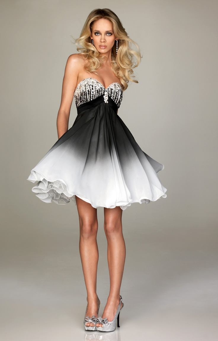 black prom dresses dressed up girl