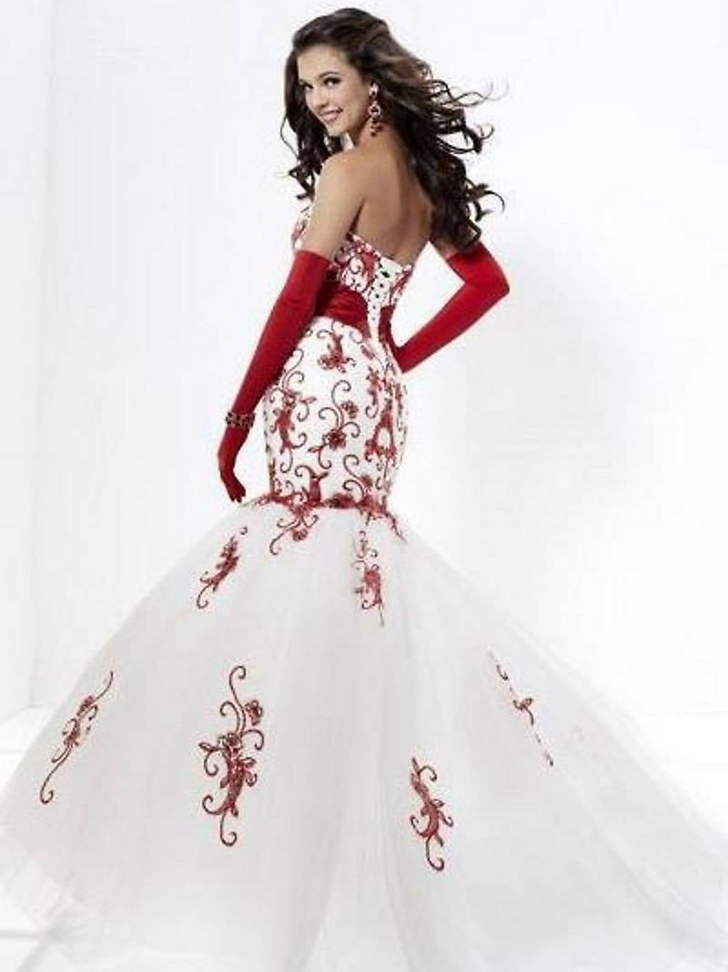 Red wedding dresses dressed up girl white and red wedding dresses junglespirit Images
