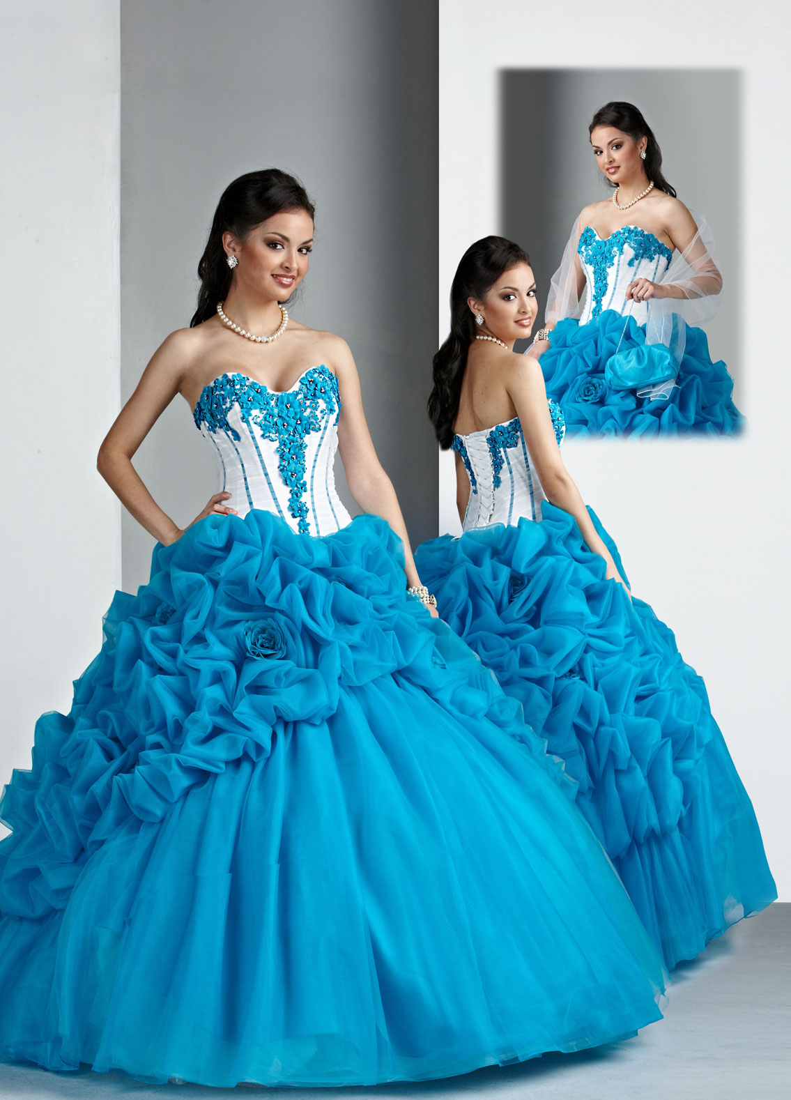 Wedding Dresses Turquoise And White 57