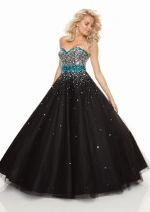 Black Ball Gown Prom Dresses