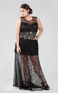 Black Lace Plus Size Dress