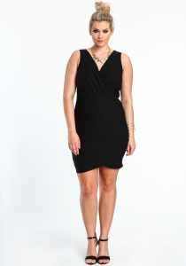 Black Plus Size Bodycon Dress