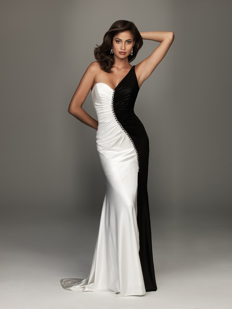 Black and White Prom Dress