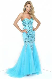 Blue Mermaid Prom Dress