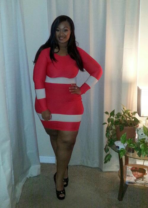 Plus Size Bodycon Dress Dressed Up Girl