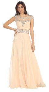 Cap Sleeve Prom Dress Images