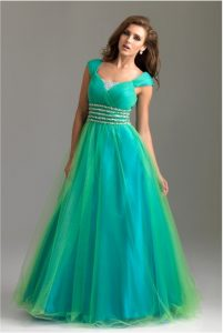 Cap Sleeve Prom Dress Pictures