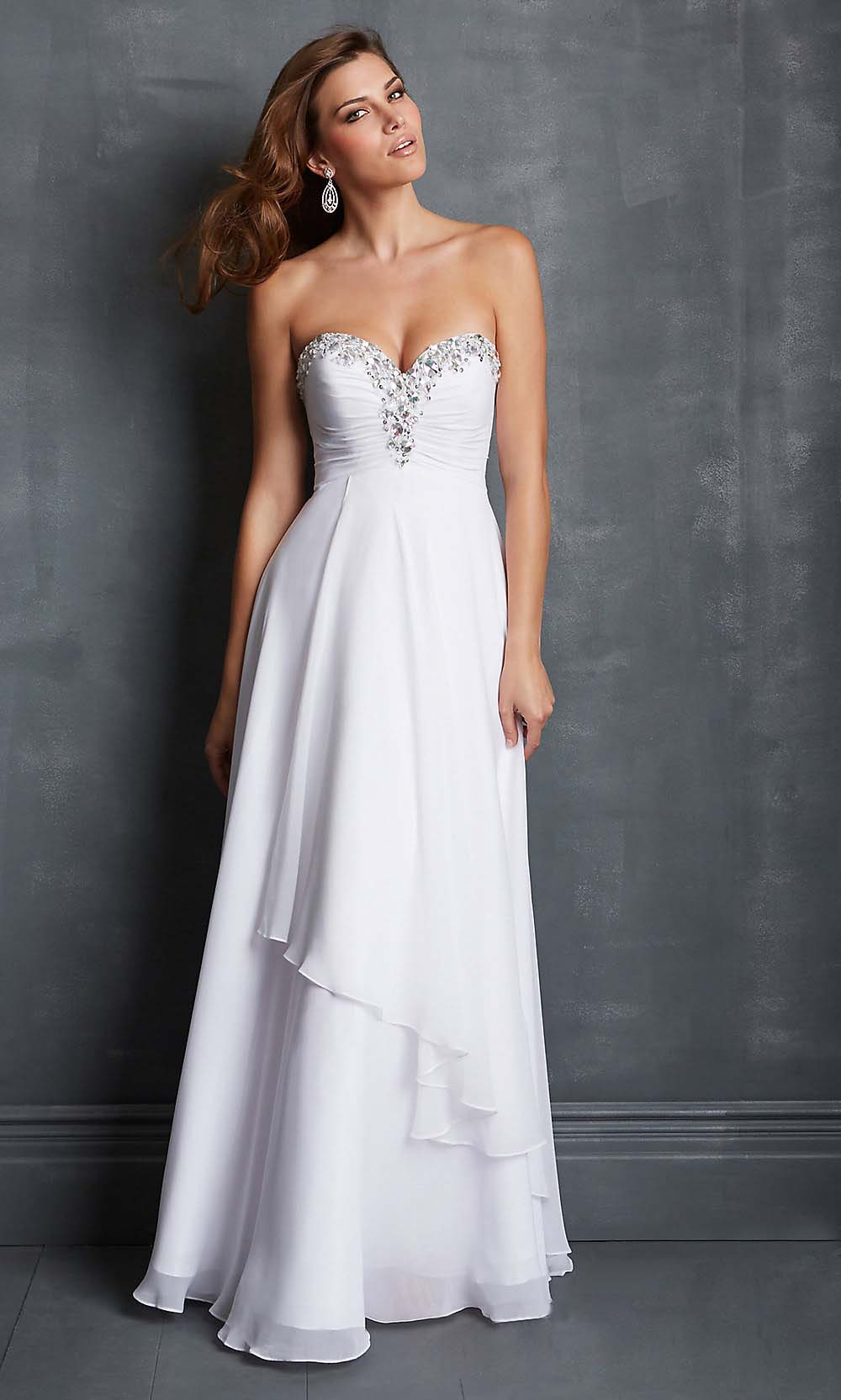 White Long Prom Dresses - Prom Dresses With Pockets