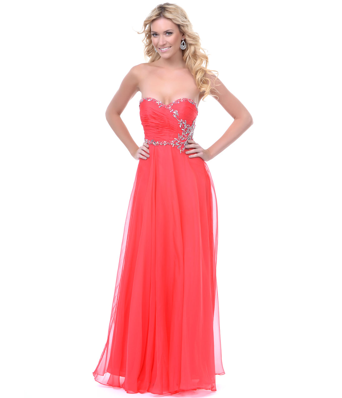 Coral Colored Prom Dresses Ejn Dress