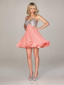 Coral Short Prom Dresses