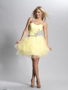 Light Yellow Prom Dress