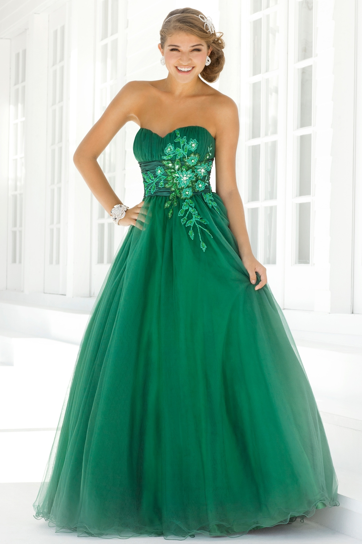 Ball gown prom dresses 2014 - Green Prom Dresses Dressed Up