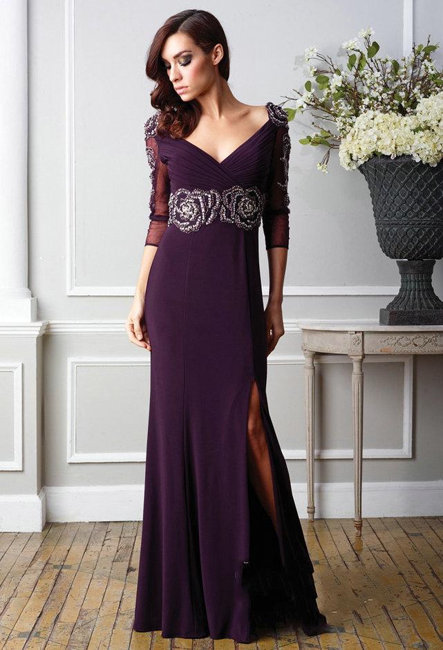 Long Sleeve Prom Dresses | DressedUpGirl.com