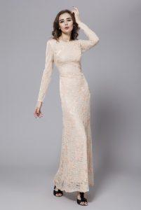 Long Sleeved Prom Dress