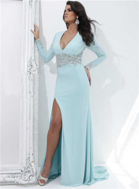 Long Sleeve Prom Dresses | Dressed Up Girl