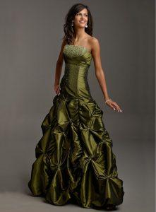 Olive Green Prom Dresses