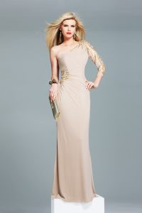 One Sleeve Long Prom Dresses