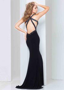 Open Back Black Prom Dress