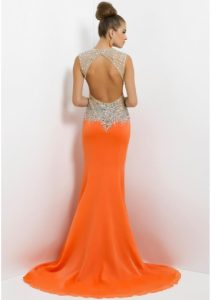 Open Back Long Prom Dresses