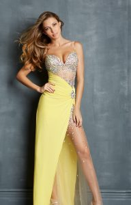 Pale Yellow Prom Dress
