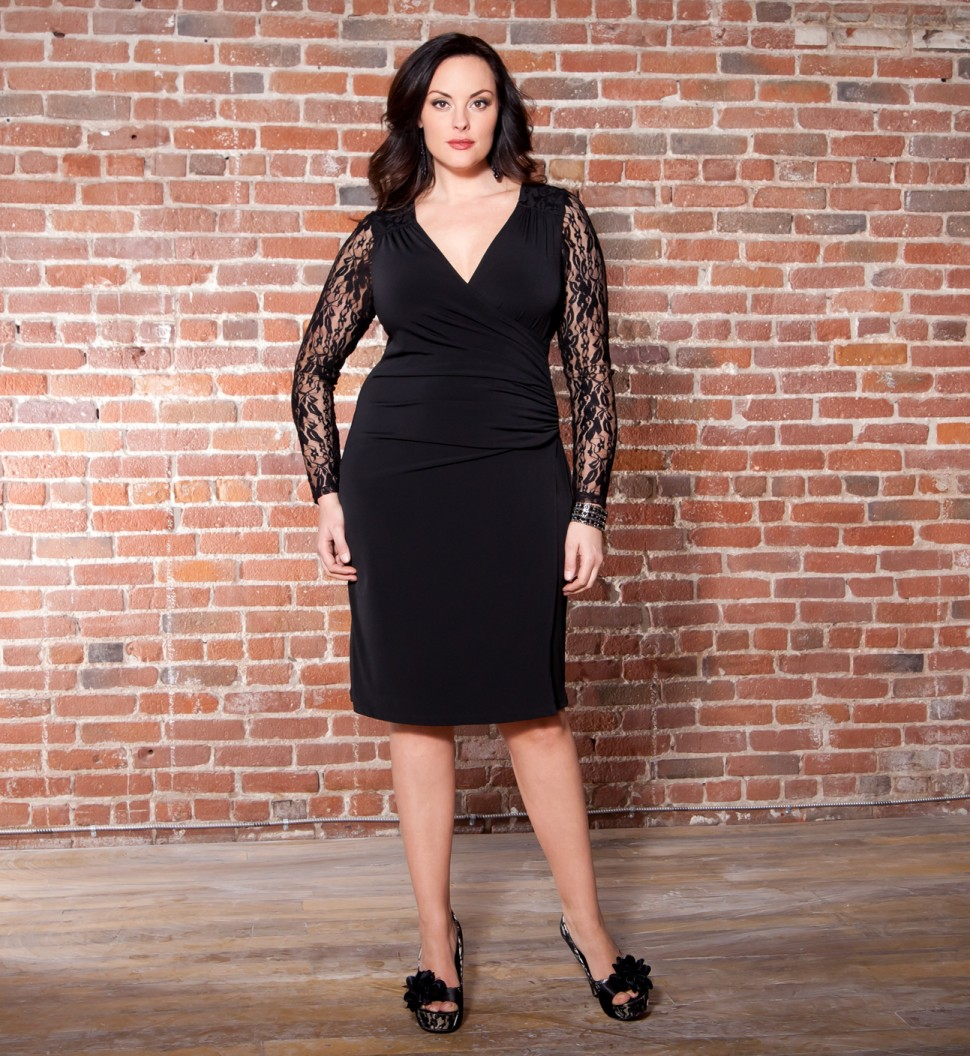 Plus Size Formal Black Dresses