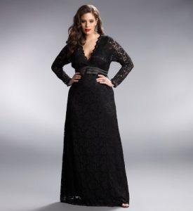 Plus Size Black Evening Dresses