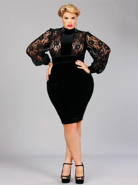 Beautiful Cute Black Plus Size Dresses Gallery - Mikejaninesmith ...