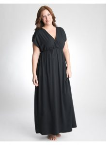 Plus Size Black Maxi Dress