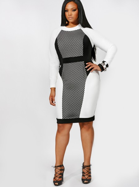 plus size bodycon dress dressed up girl