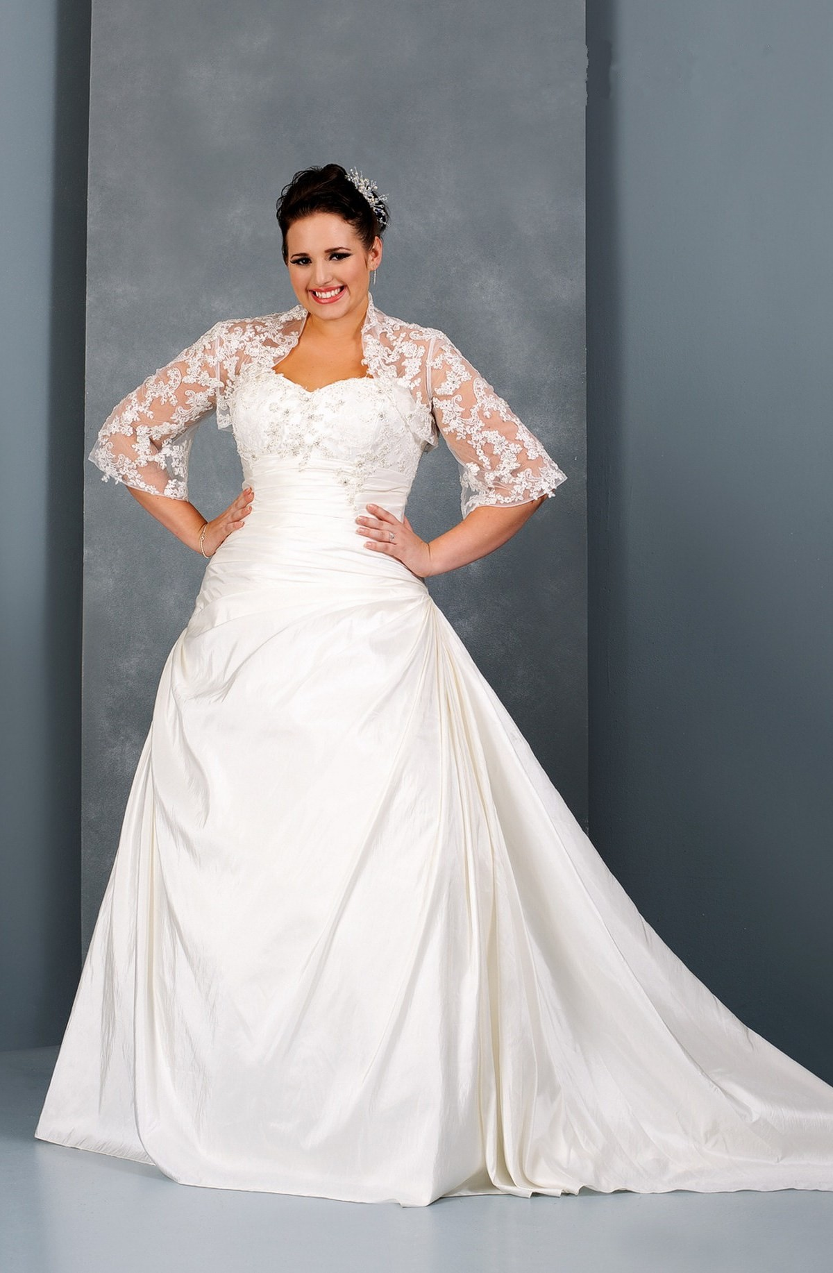 Plus Size Dresses With Jackets For Wedding 23
