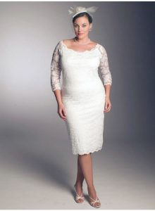 Plus Size Bridesmaids Dresses with Sleeves