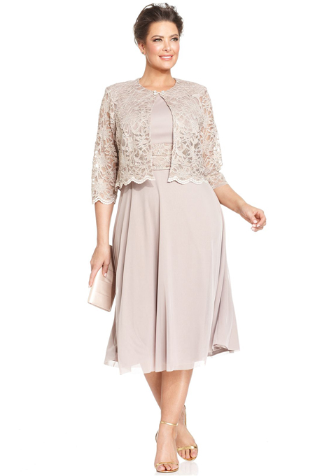 Plus Size Mother Of The Bride Dresses With Sleeves