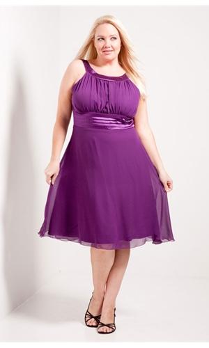 Purple plus size formal dress