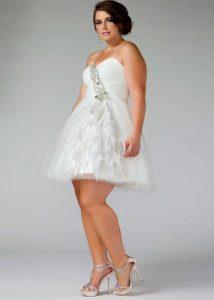 Plus Size Short White Dresses