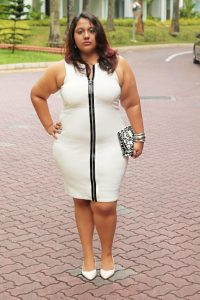Plus Size White Bodycon Dress