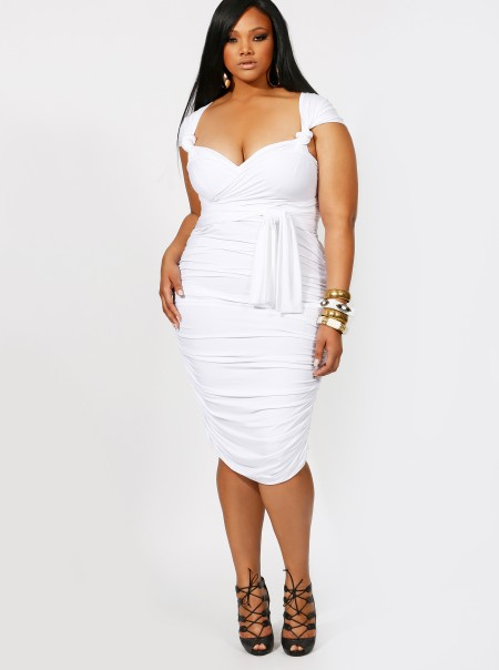 Plus Size White Dress | Dressed Up Girl