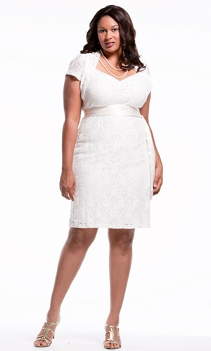 Plus Size White Sundresses