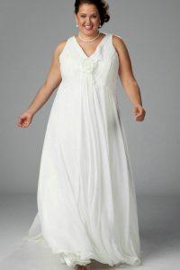 Plus Size White Evening Dresses