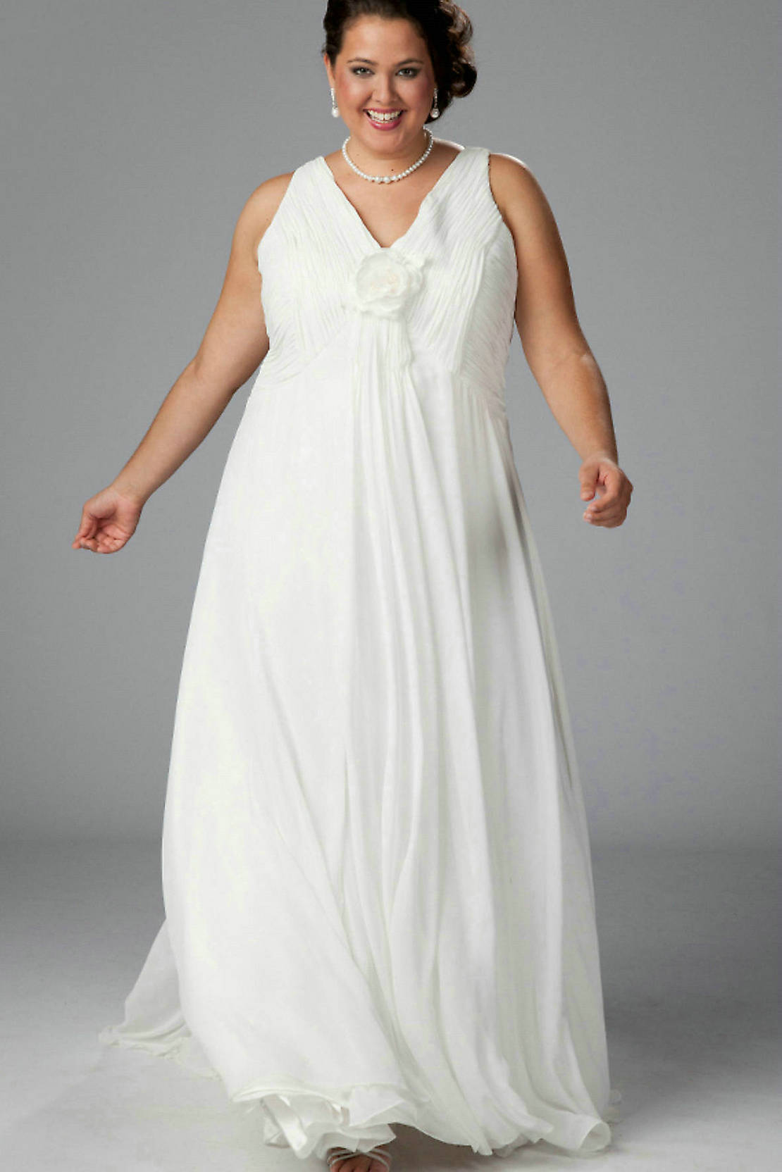 White Plus Size Party Dress