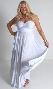 Plus Size White Party Dresses