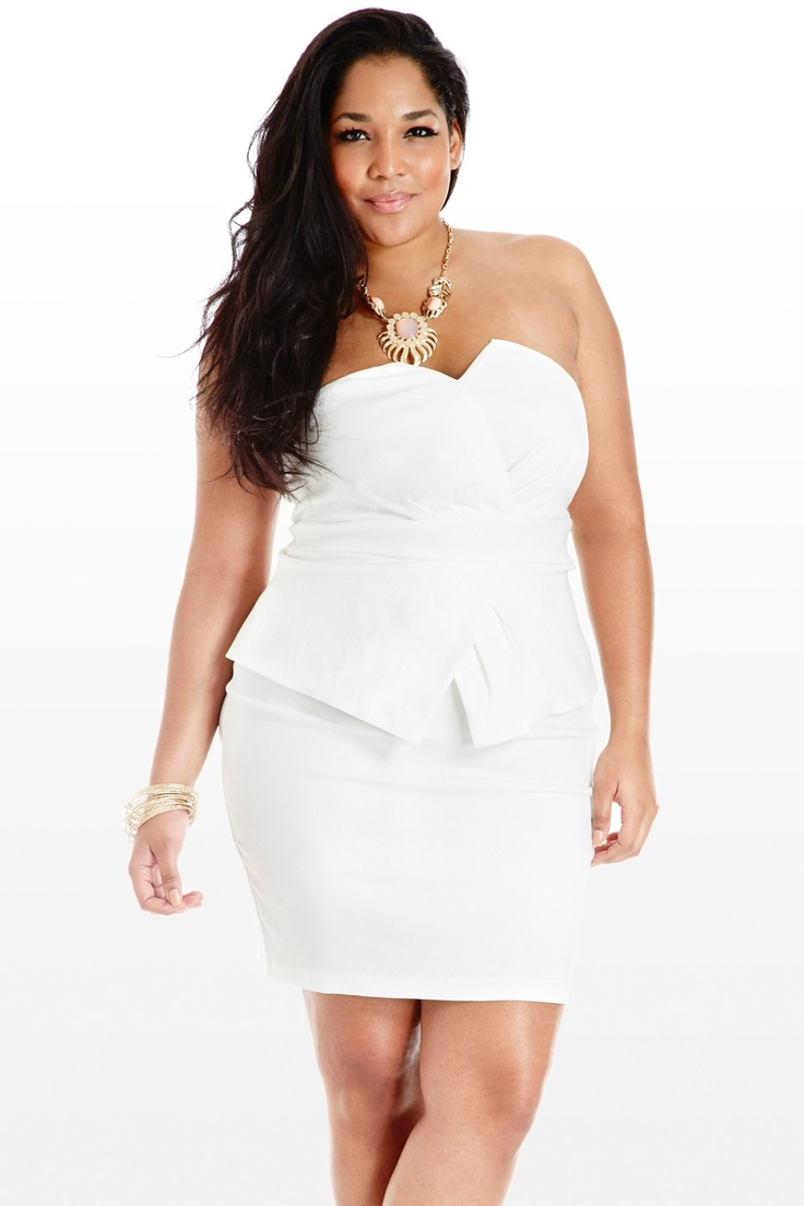 Plus Size Formal Dresses Under 100: Plus Size White Dress