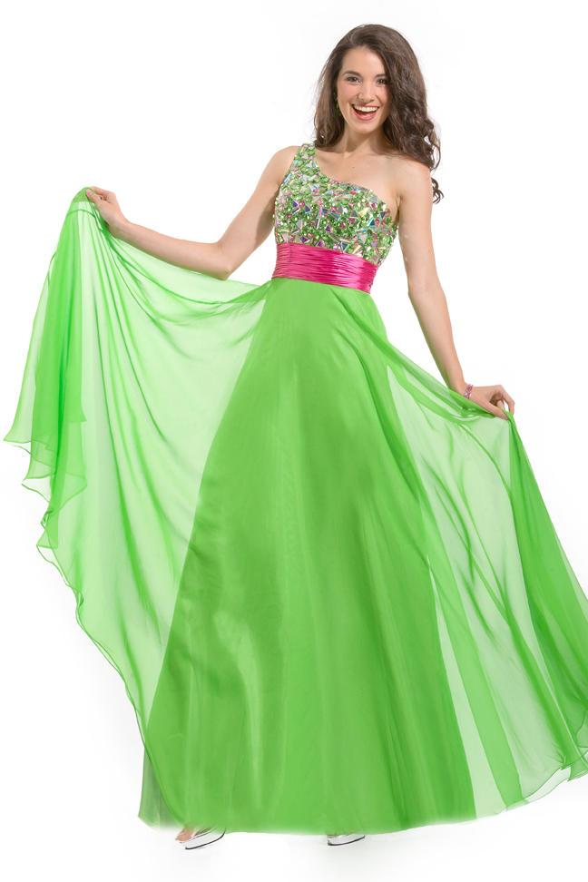 One Shoulder Prom Dresses Dressed Up Girl
