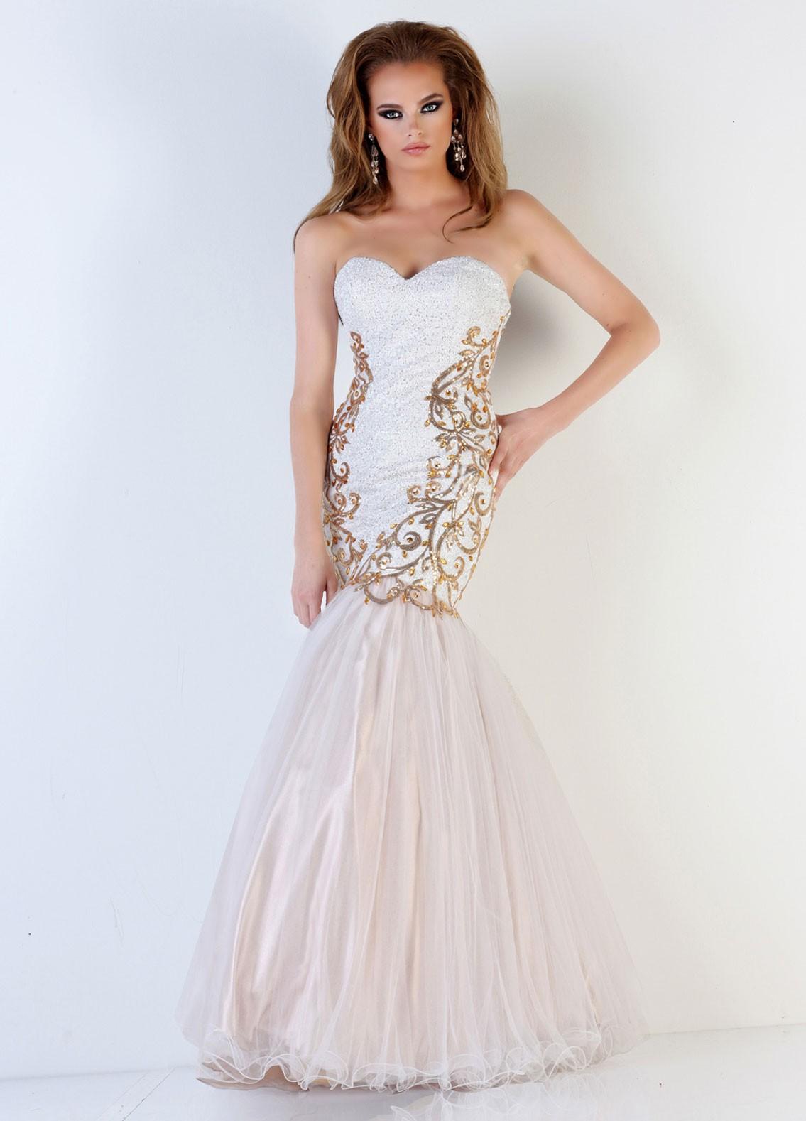 White Prom Dresses Dressedupgirl Com